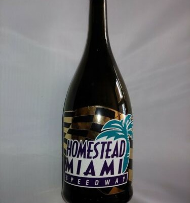 Miami Homestead Speedway champagne bottle race used Victory Lane nascar trophy