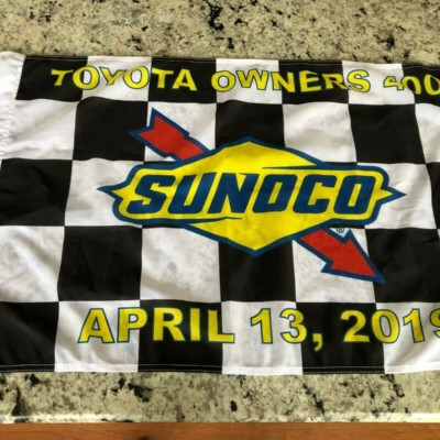 2019 Martin Truex Richmond Victory Lane Checkered Flag Trophy SUNOCO 19 Nascar