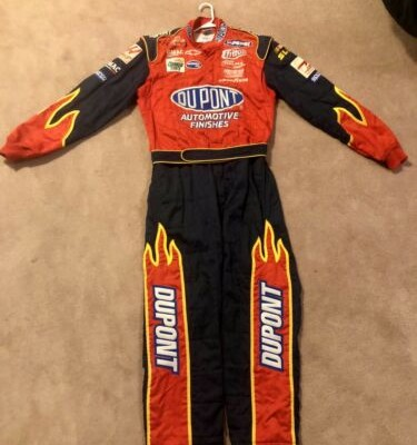 Nascar Race Used Worn Crew Fire Suit Jeff Gordon 24 DuPont Hendrick Motorsports