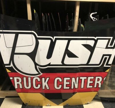Clint Bowyer Rush Truck Center Nascar Race Used Sheetmetal Hood