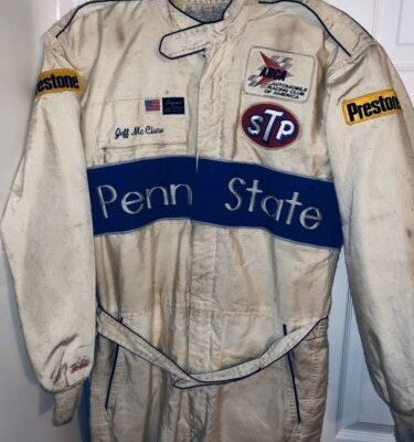 Vintage Jeff McClure Penn State Nittany Lions Driver Firesuit ARCA Nascar Racing