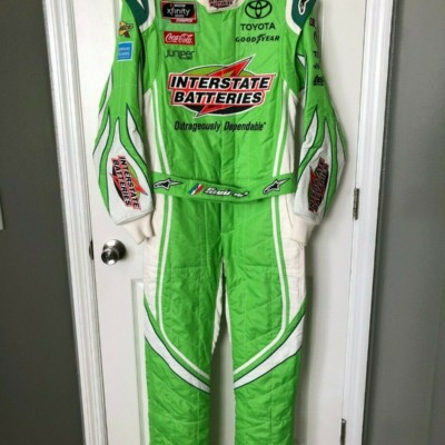 Daniel Suarez Race Used / Worn Drivers Fire Suit NASCAR Xfinity Champion JGR