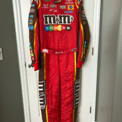 Kyle Busch Race Used / Worn Drivers Fire Suit NASCAR Cup Series M&M Rowdy