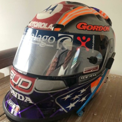 Robby Gordon Indy 500 Helmet / Race Worn