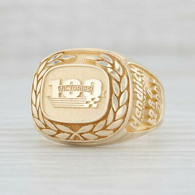 Hendrick Motorsports 100 Victories Ring – 10k Yellow Gold Size 11.75-12 NASCAR