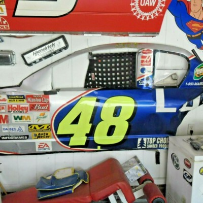 NASCAR RACE USED JIMMIE JOHNSON SHEETMETAL ROOKIE DRIVER SIDE 8FT++ REAR WINDOW