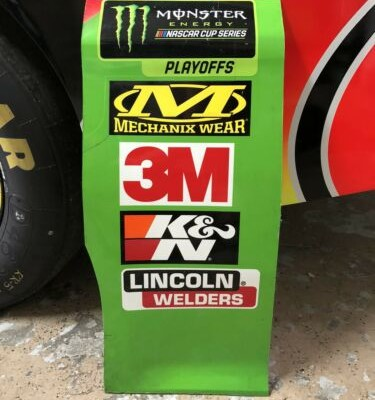 Kyle Busch NASCAR Race Used Sheetmetal Contingency Panel Playoffs 2019 Champion