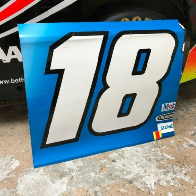 Kyle Busch NASCAR Race Used Sheetmetal M&Ms Door Panel 2019 Champion