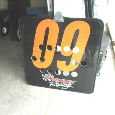 NASCAR RACE USED BRAD KESELOWSKI PIT ROAD SIGN 1ST DAGA WIN PHOENIX RACING 32X32
