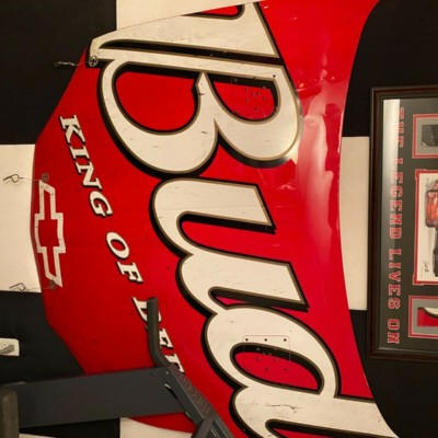 Dale Earnhardt Jr race used Budweiser hood