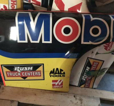 2016 Tony Stewart #14 Mobil 1 Nascar Race Used Sheetmetal Rear Qtr Panel SHR