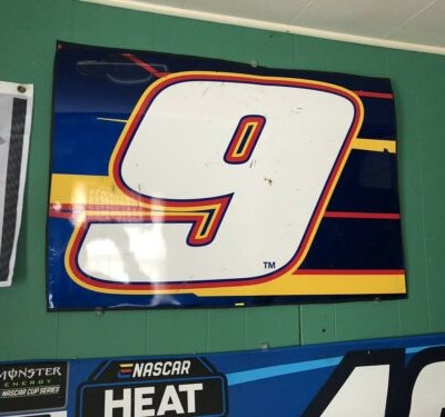 Chase Elliott #9 NASCAR Race Used Sheet Metal 2014 Nationwide Series Champ Year