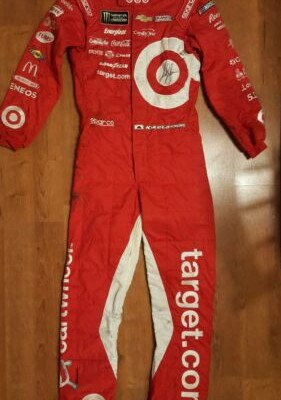 Kyle Larson Signed Target Chip Ganassi NASCAR Firesuit Dirt Race Used Suit