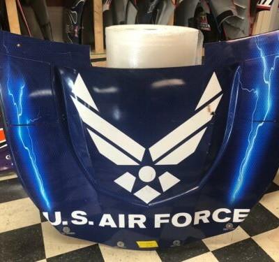 Bubba Wallace Air Force Richard Petty RPM 43 Nascar Race Used Sheetmetal Hood