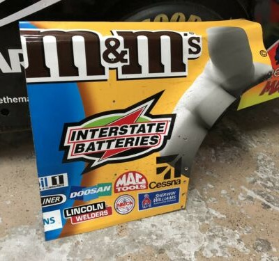 Kyle Busch NASCAR Race Used Sheetmetal M&Ms Quarter Panel 2019 Champion