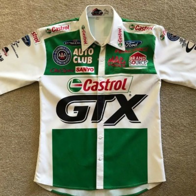 Ashley Force Castrol GTX race used NHRA CREW SHIRT RARE