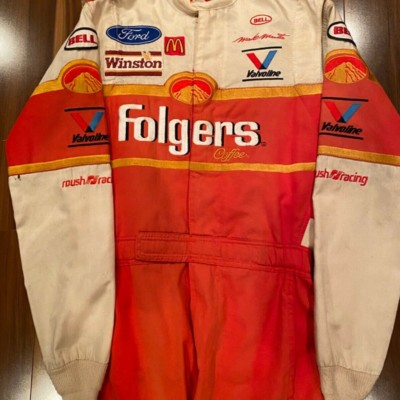 Mark Martin Folgers Race Worn Used Firesuit Drivers suit NASCAR Roush Racing HOF