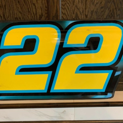 Nascar Race Used Sheetmetal #22 Joey Logano door panel