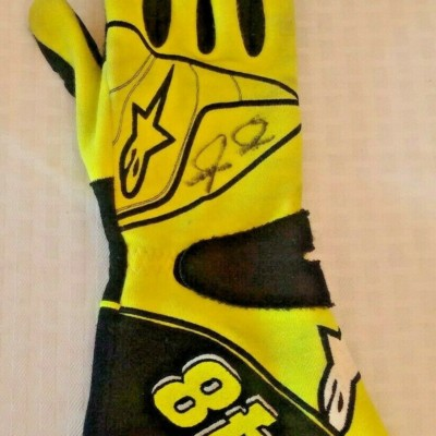 Race Used Autographed Signed Glove JIMMIE JOHNSON 2011 DaytonaTalladega NASCAR R