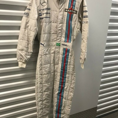 FILIPE NASR, 2014 WILLIAMS GRAND PRIX F-1 ,SIGNED WORN/USED PUMA DRIVERS SUIT