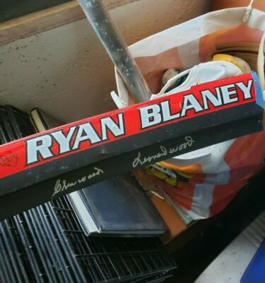 Ryan Blaney Autographed Rookie Name rail Autogrsphed By Wood brothers And Ryan