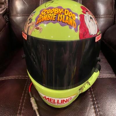 Jerry Nadeau Scooby Doo Zombie Island Race Used Worn Helmet  Cartoon Network