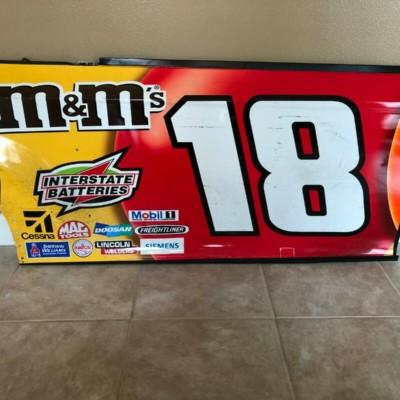 Kyle Busch NASCAR Race Used Sheetmetal M&Ms Door Panel 2019 Champion