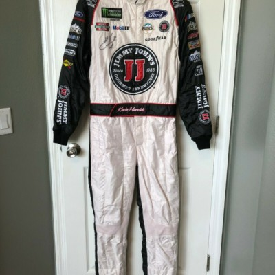 Kevin Harvick NASCAR Race Used Worn Drivers Fire Suit Jimmy Johns Stewart Haas