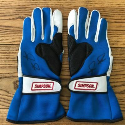 Jimmie Johnson Autographed NASCAR Racing Gloves Simpson Hendrick Motorsports