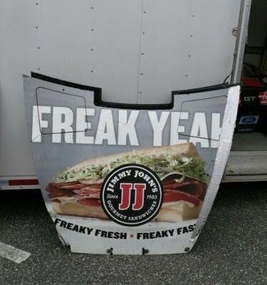 2018 Kevin Harvick NASCAR Race Used Sheetmetal Jimmy John's Hood Daytona