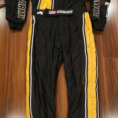 Tony Schumacher 2017 Race Used Worn Drivers suit Fire Suit Autographed NHRA
