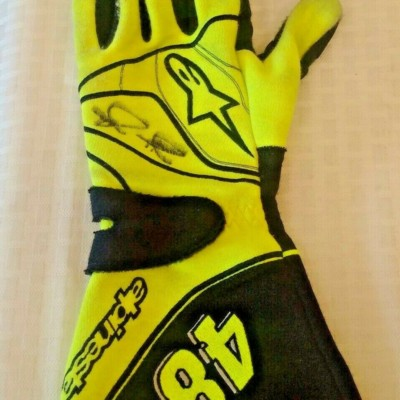 Race Used Autographed Signed Glove JIMMIE JOHNSON 2011 DaytonaTalladega NASCAR L