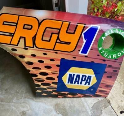 Nascar Race Used Chase Elliott SunEnergy Quarter Panel 2018 #9 Sheetmetal Metal