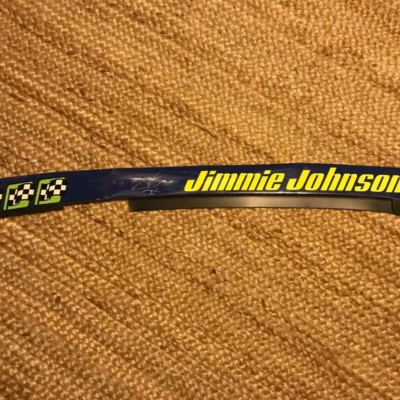 JIMMIE JOHNSON signed 2017 name rail 7X inscription pic proof