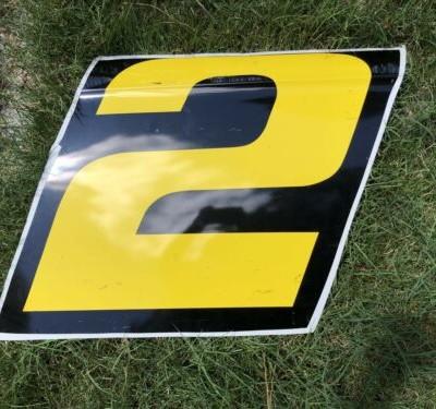 Nascar Race Used #2 Brad Keselowski 2017 Door