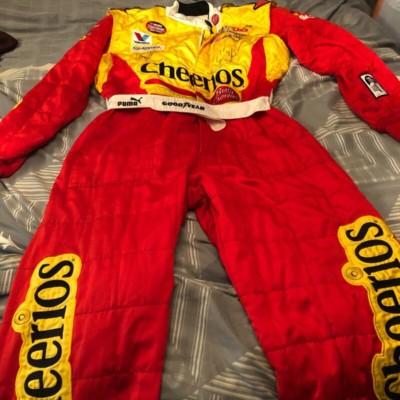 Erin Crocker #98 Cheerios Raced used Crew Firesuit Autographed
