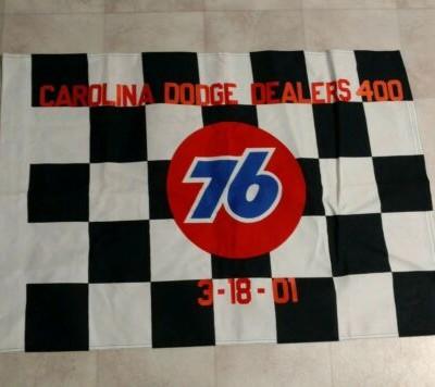 Dale Jarrett Robert Yates Team Darlington Win Nascar Race Used Victory Lane Flag