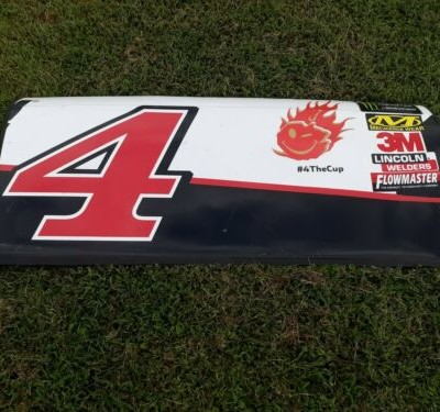 Kevin Harvick Jimmy Johns Nascar Race Used Sheet Metal Door With Playoff Emoji