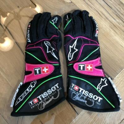 Danica Patrick Autographed Race Used Worn Gloves NASCAR Indycar GoDaddy