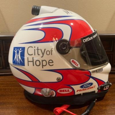 Signed Carl Edwards NASCAR Race Used Office Depot Helmet