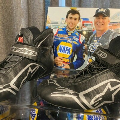 Chase Elliott Autographed Race Used Drivers Shoes from the 2020 Nascar Champion!