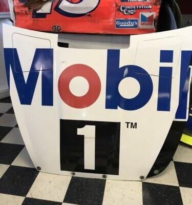 2018 Kevin Harvick Mobil 1 Hood Nascar Race Used Sheetmetal Ford SHR