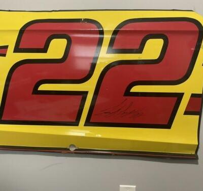 NASCAR Race Used Sheet Metal #22 Joey Logano Door Panel- Penske