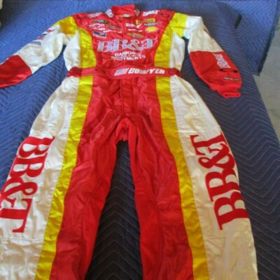 CLINT BOWYER NASCAR DRIVING SUIT VERY GOOD CONDITION HEAVY SUIT