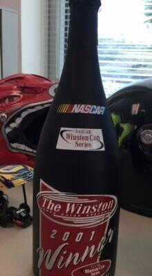 Jeff Gordon Nascar Race Used 2001 The Winston All Star Win Champagne Bottle