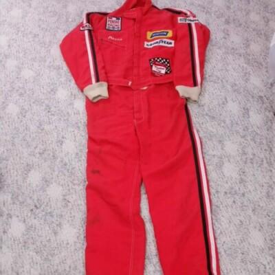 Vintage 70s Dave Marcis Nascar Drivers Suit Winston Cup One Piece Penske Racing