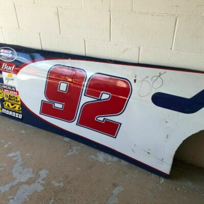 Jimmie Johnson autographed NASCAR race used sheetmetal side panel
