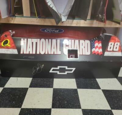 Dale Earnhardt Jr Autographed National Guard Nascar Race Used Sheet Metal Bumper