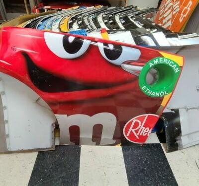 Kyle Busch Nascar Race Used Sheetmetal M&M rear quarter panel