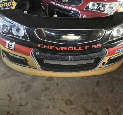 Tony Stewart #14 Rush Truck Center Nascar Race Used Sheet Metal Nose